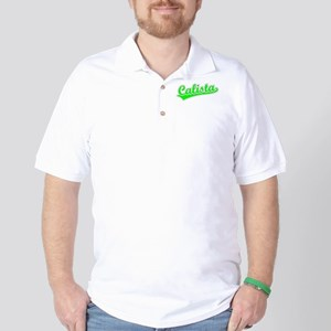 Retro Calista (Green) Golf Shirt